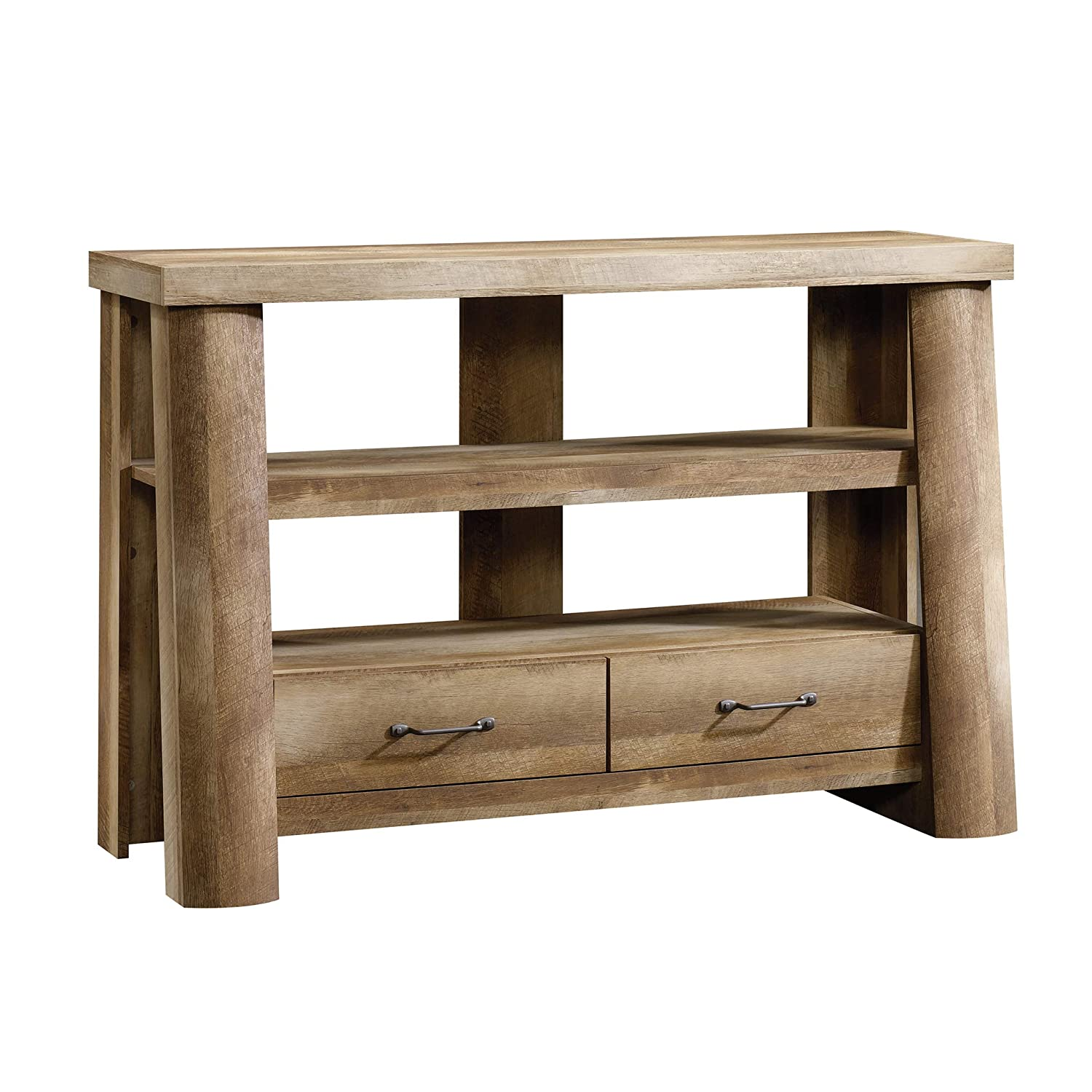 Sauder Boone Mountain Anywhere Console, For TV s up to 47 , Craftsman Oak finish