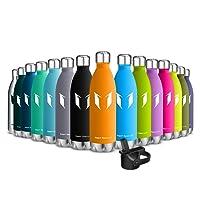 Super Sparrow Trinkflasche Edelstahl - Wasserflasche Doppelwandig Vakuum Isoliert Edelstahl - Kleiner Mund - 500ml & 750ml - Auslaufsicher Sport Trinkflaschen | Ideale Flasche - 2 Deckel