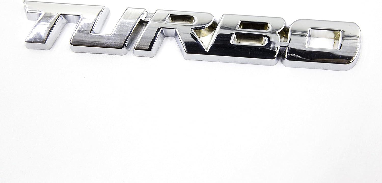 Chrome Silver LIGHTKOREA 2Pcs Small and Big Metal Turbo Emblem Side Fender Trunk Emblem Vehicle Car Motorcycle Badge Decals
