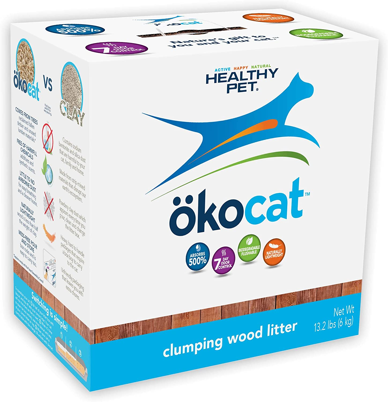 ökocat Natural Wood Clumping Cat Litter 81rOIx3JAOL