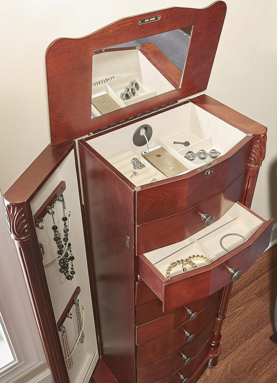 Powell Company Powell Madison Cherry Jewelry Armoire