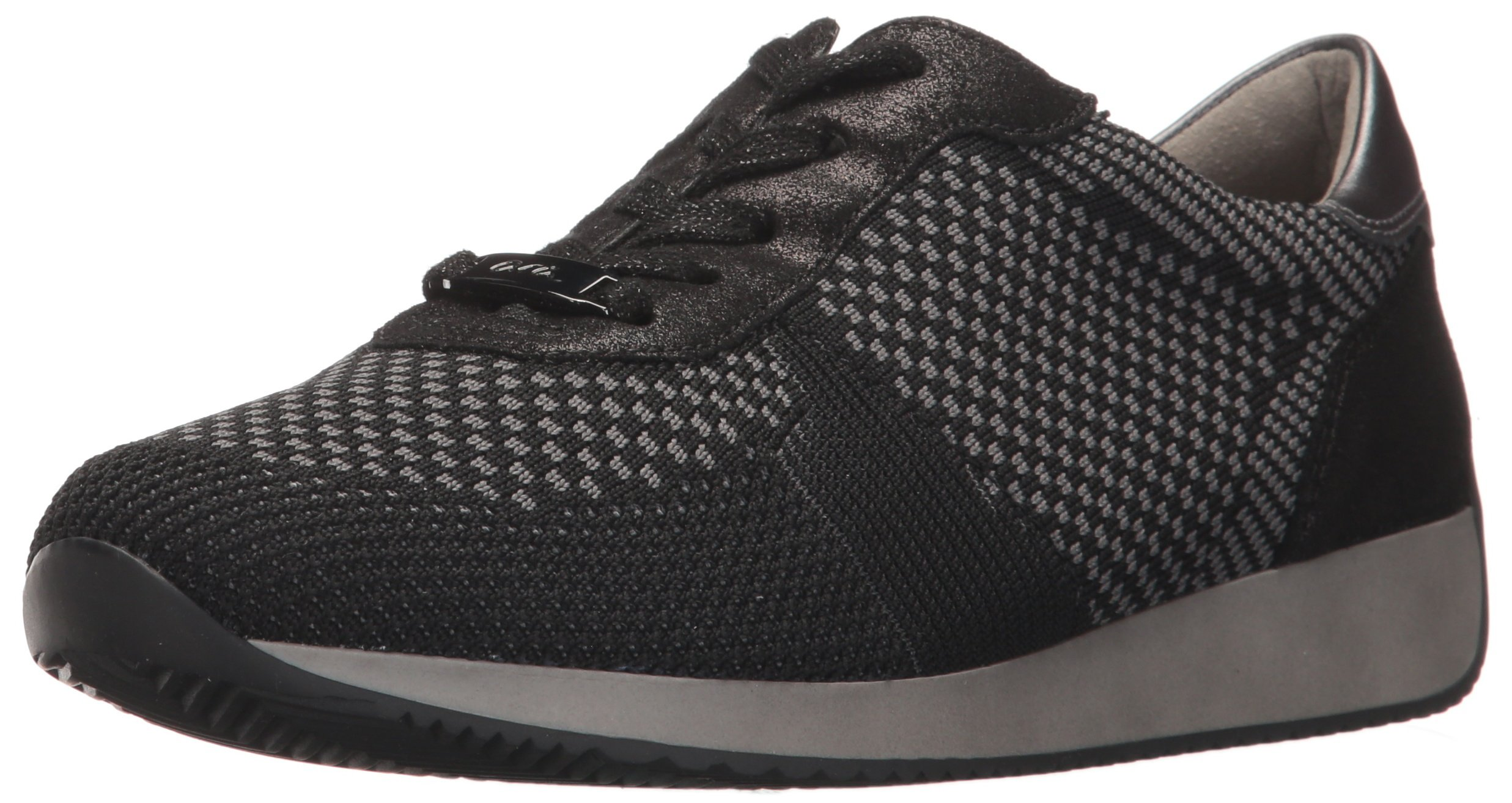 ara Women's Lilly Sneaker, Black Woven, 6.5 M US
