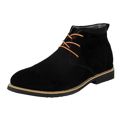 iloveSIA Men's Casual Suede Leather Desert Boots Walking Chukka Shoes | Chukka