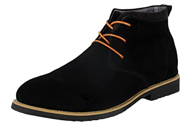 cc3514b32ba6 iLoveSIA Men s Casual Suede Leather Desert Boots Walking Chukka Shoes Black  ...