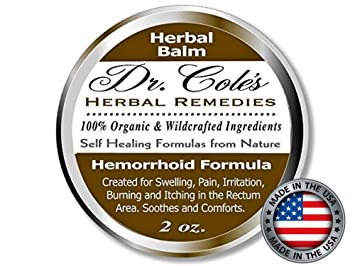 Dr  Cole's Hemorrhoid Treatment  Organic Herbal Ointment for Hemorrhoid  Relief  Natural