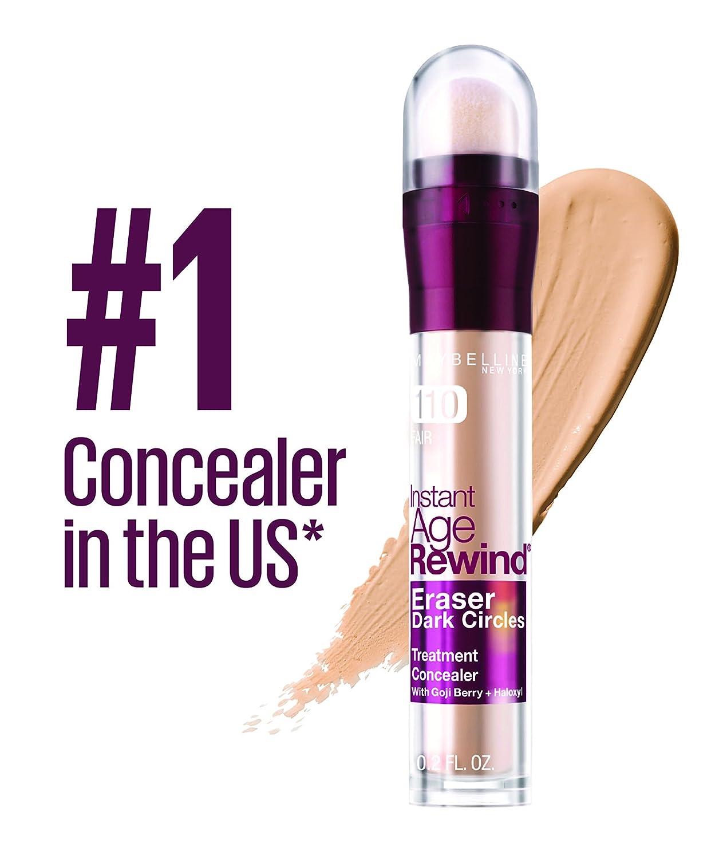 Maybelline New York Instant Age Rewind Eraser Dark Circles Treatment Concealer, Ivory, 0.2 Oz Manufacturer 041554546781