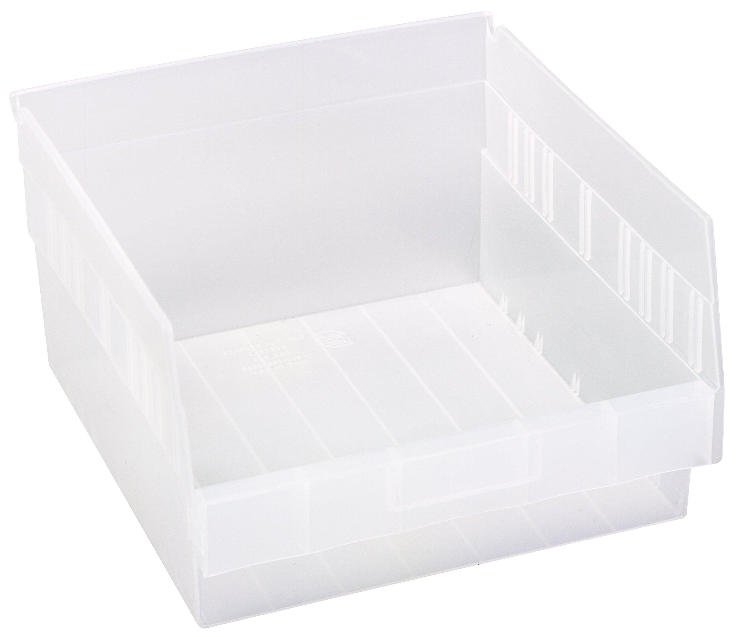 Quantum QSB209CL Store More Shelf Bin, 11-5/8'' Length x 11-1/8'' Width x 6'' Height, Clear, Pack of 8 by Quantum