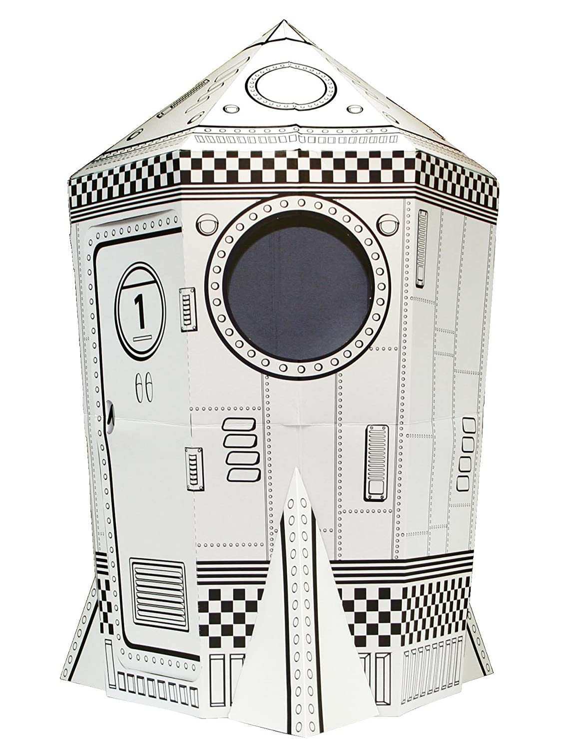 New Large Colour Your Own Rocket Space Ship House Childrens