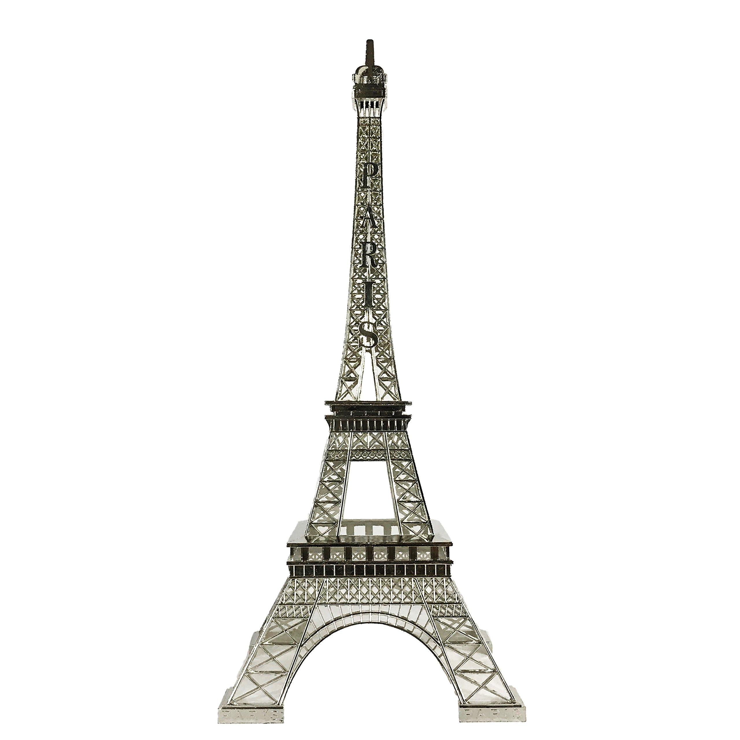 allgala 24'' Eiffel Tower Statue Decor Alloy Metal, Silver