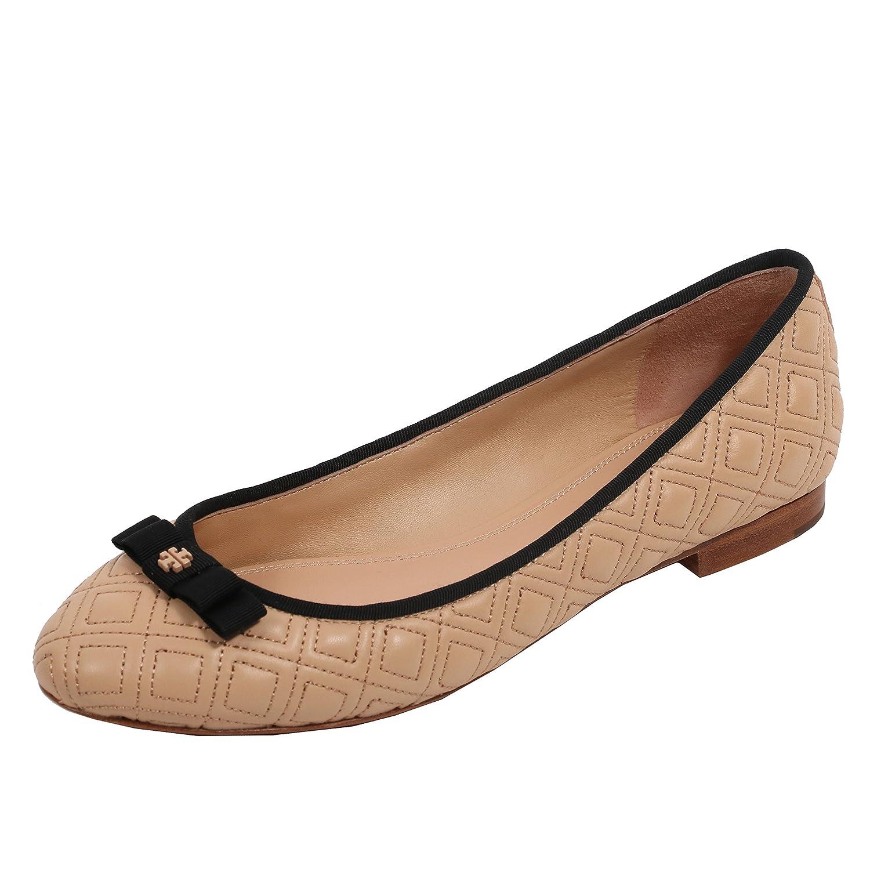 Tory Burch Marion Quilted Ballet Flat Women's Leather Shoes B07F17TQJ9 6.5 B(M) US|Light Oak