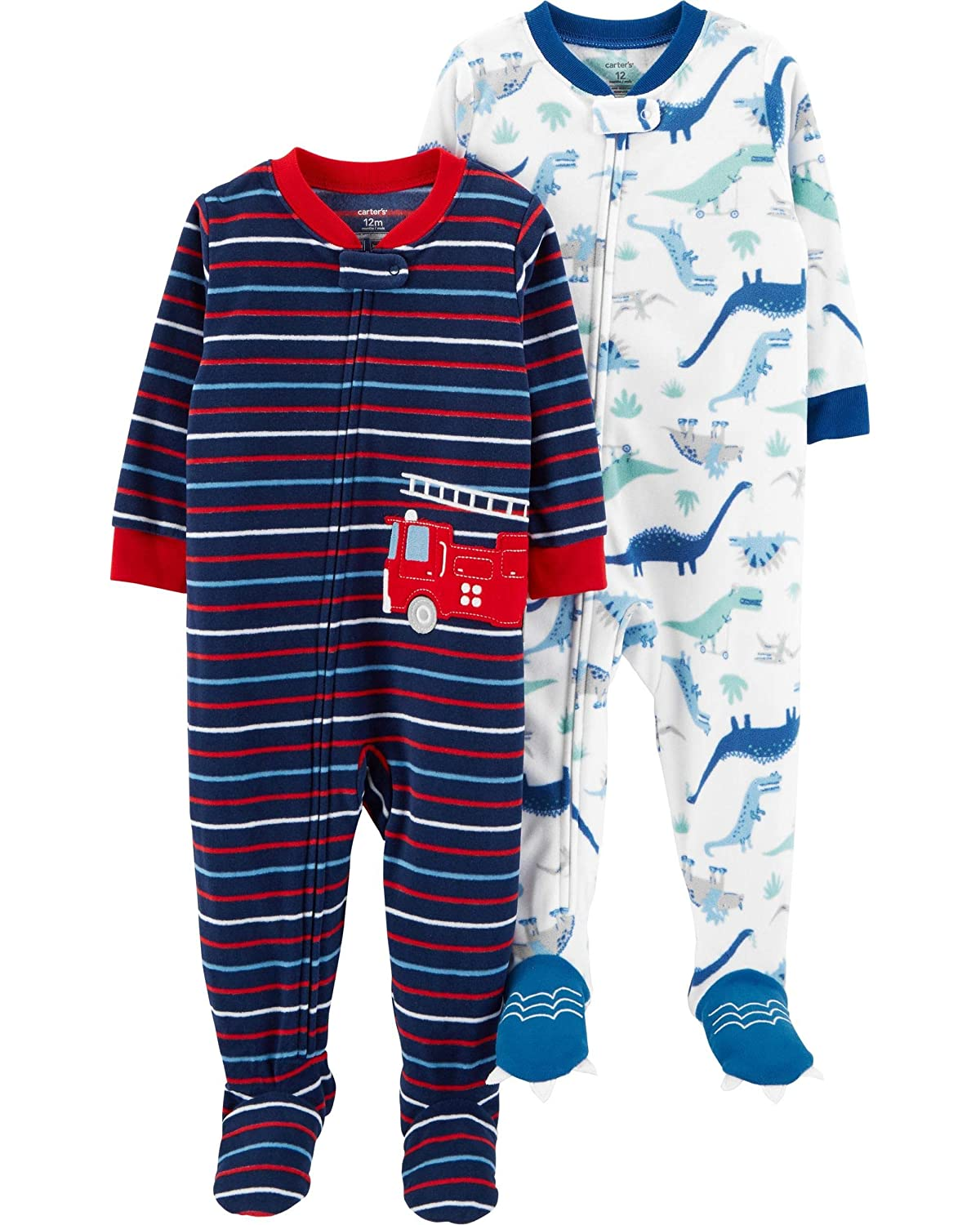 Carter's Baby Boys' 2-Pack Fleece Footed Pajamas