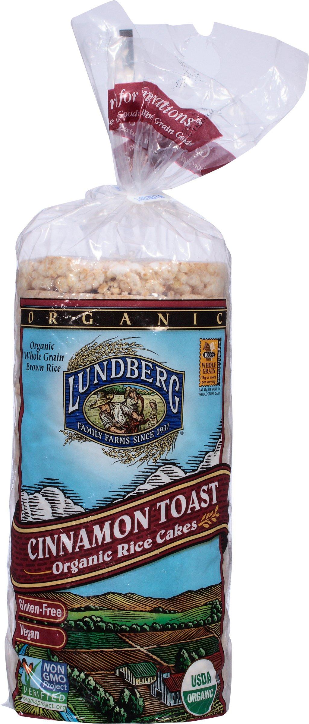 Lundberg Family Farms Organic Cinnamon Toast Rice Cake, 9.5 oz