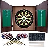 Trademark Gameroom Dartboard Cabinet Set with