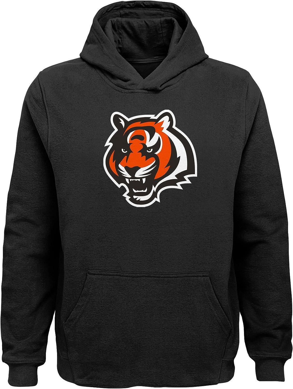 3T NFL Cincinnati Bengals Toddler Primary Logo Sueded Classic Hoodie Black