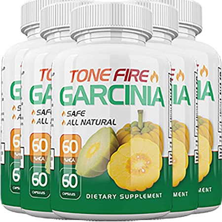 Tone Fire Garcinia Pills – Advanced Weight Loss – Thermogenic Fat Burning Formula 5 Month Supply