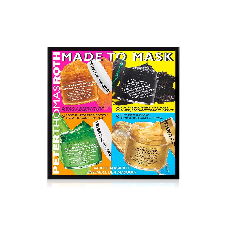 Peter Thomas Roth Made To Mask 4-Piece Mask Kit, Facial Masks Beauty, Facial Mask Skin Care, 4 ct.