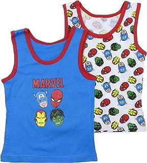 Marvel Avengers End Game Two 2 Pack Vests Undergarments Hulk Ironman Captain America Spider-Man