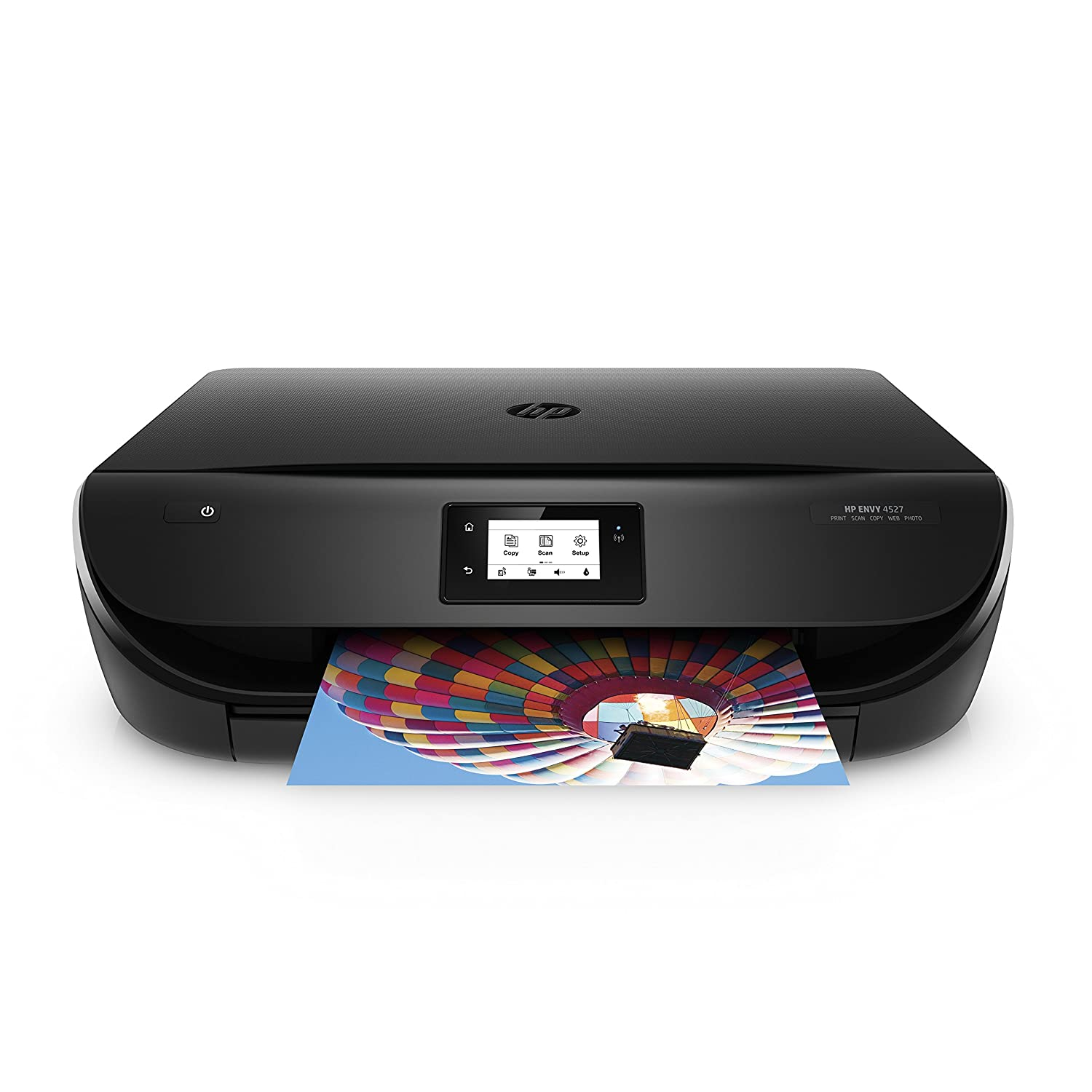 HP ENVY Photo 4527 Impresora multifunción All-in-One (Inyección de tinta A4, Wi-Fi, Imprime, Escanea, Copia, pantalla LCD, USB 2.0, 4ppm, 360 MHz), color negro