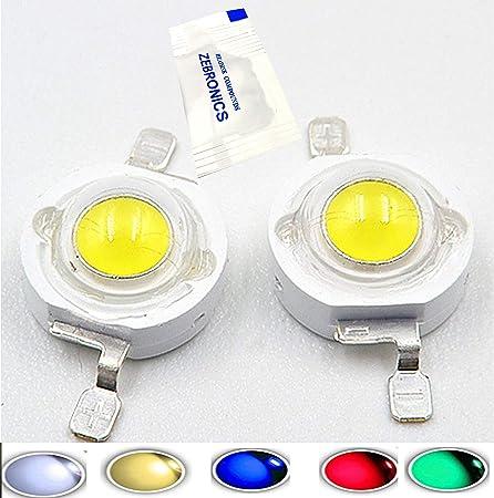 5Pcs 5W Watt High Power Warm White 3000-3500k SMD LED Chip COB Lamp Beads Lights