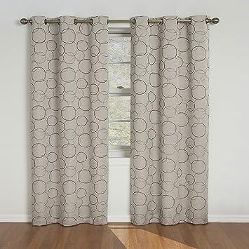 eclipse meridian 108inch blackout window curtain panel beige