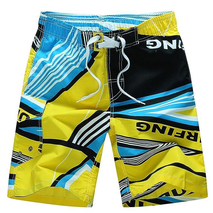 d617e8d1800d TailorPal Love-Uomo Calzoncini da Mare Bermuda Costumi da Mare Pantaloncini  da Bagno da Spiaggia da Surfe da Nuoto Outdoor Casual Pantaloncini Boxer  Estivi ...