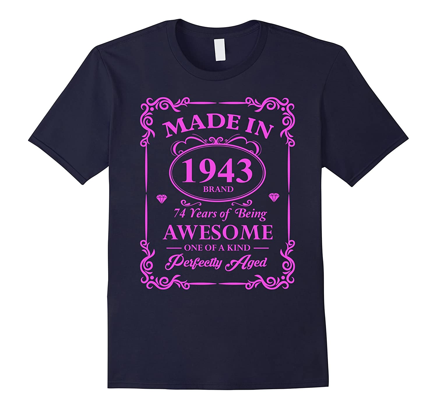 Vintage Made In 1943 74th Birthday Womens Gift T Shirt-TH