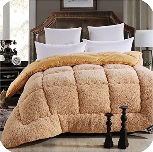 Camel Down Comforter in Queen King or Twin Sizes; quilted cotton cover