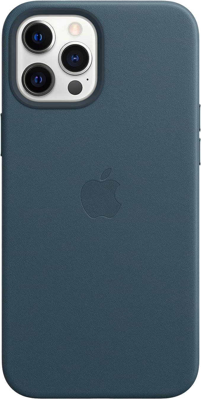 Apple Coque en Cuir avec MagSafe (pour iPhone 12 Pro Max) - Bleu Baltique