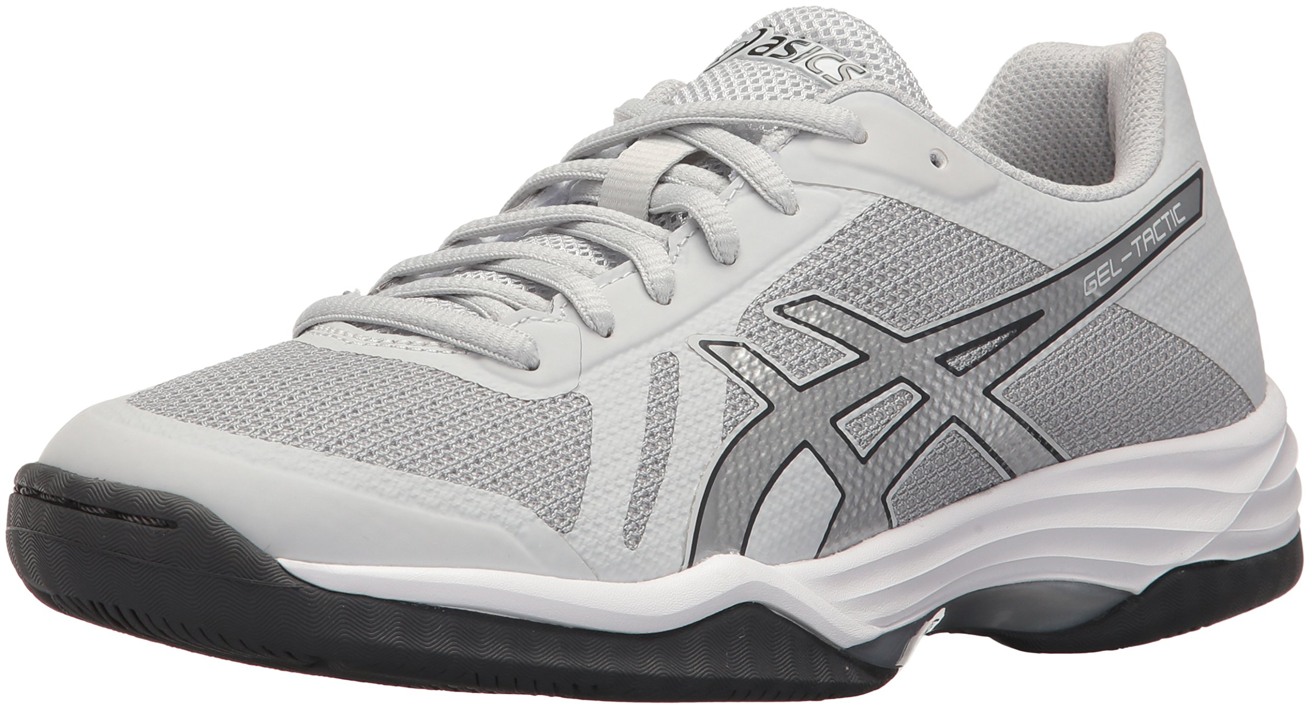 ASICS Women's Gel-Tactic 2 Volleyball Shoe, Glacier Grey/Silver/Dark Grey, 11 Medium US
