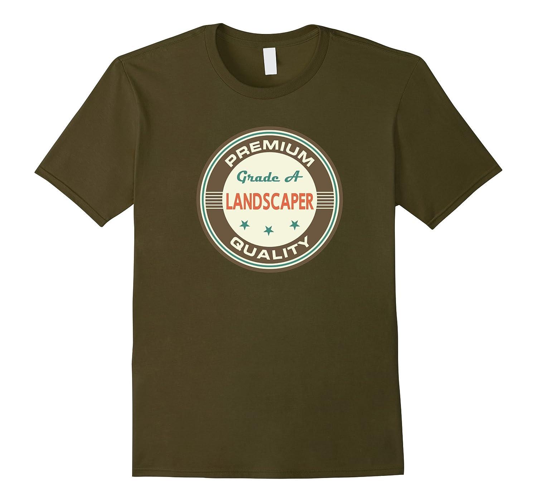 Landscaper T-shirt Vintage Job Landscaping Tee-TD