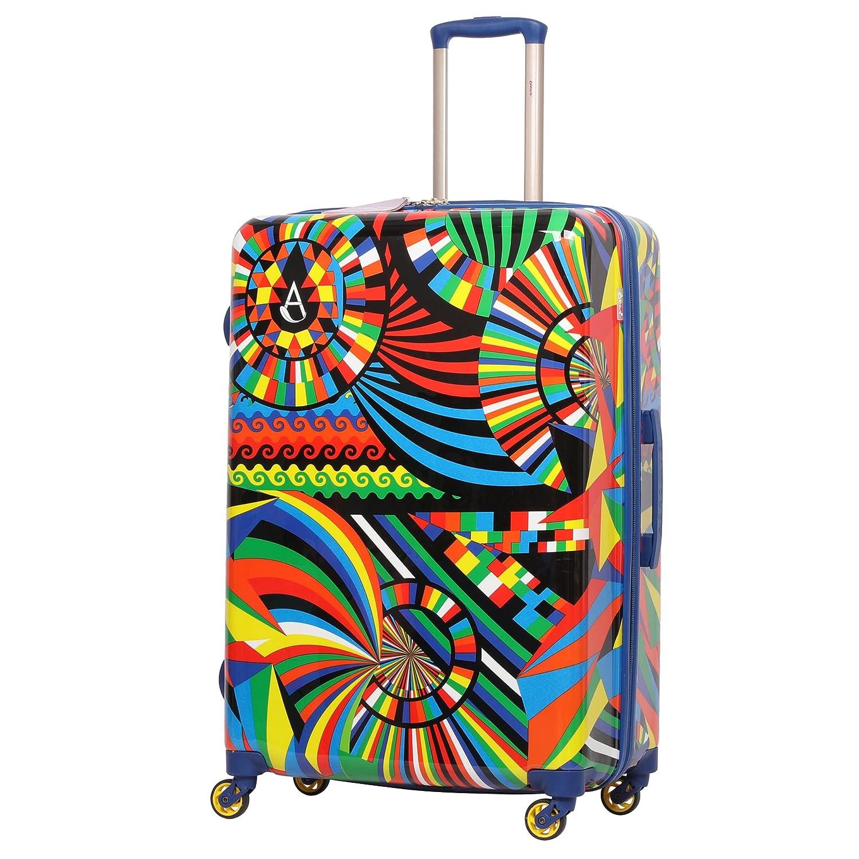 Aerolite Set de 3 Valises Rigides à 4 Roulettes Polycarbonate, 55cm Bagage Cabine + 69cm + 79cm, Carnaval