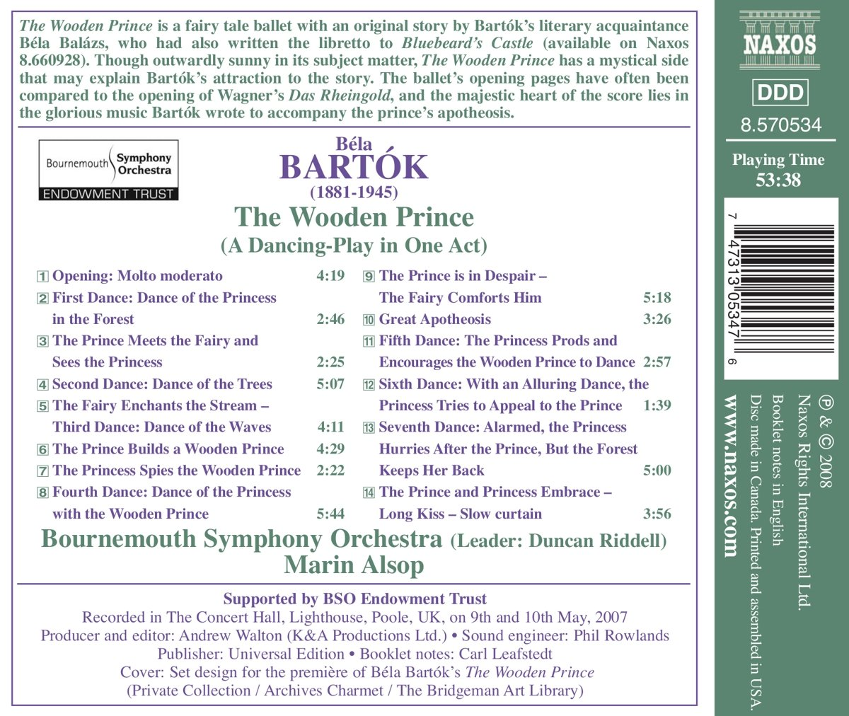 Bartok: The Wooden Prince by Naxos