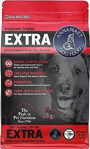 Annamaet Original Extra Formula Dry Dog Food, 26% Protein (Chicken & Brown Rice)