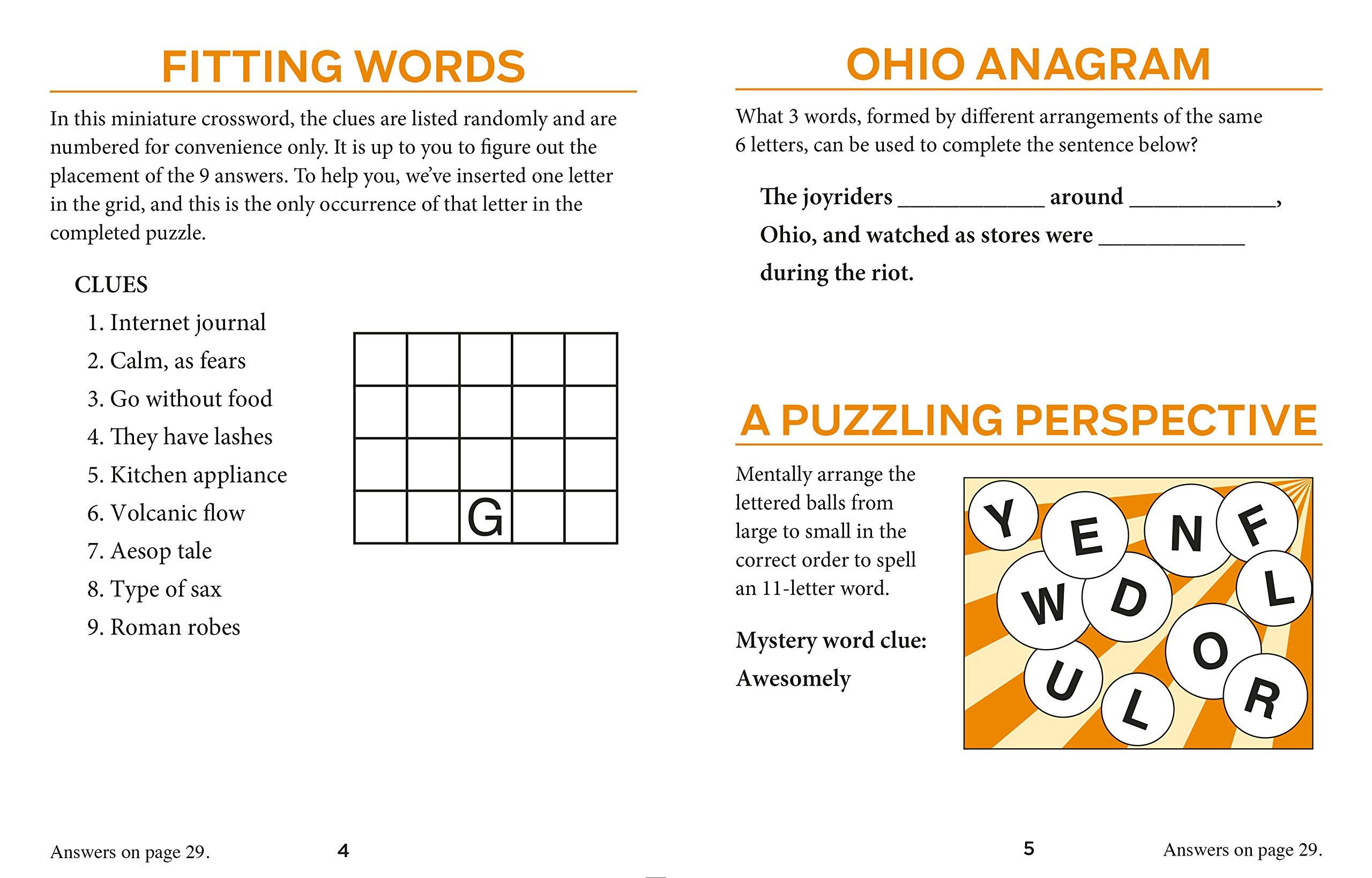 AARP 10-Book Puzzle Set (Large-Print): Publications