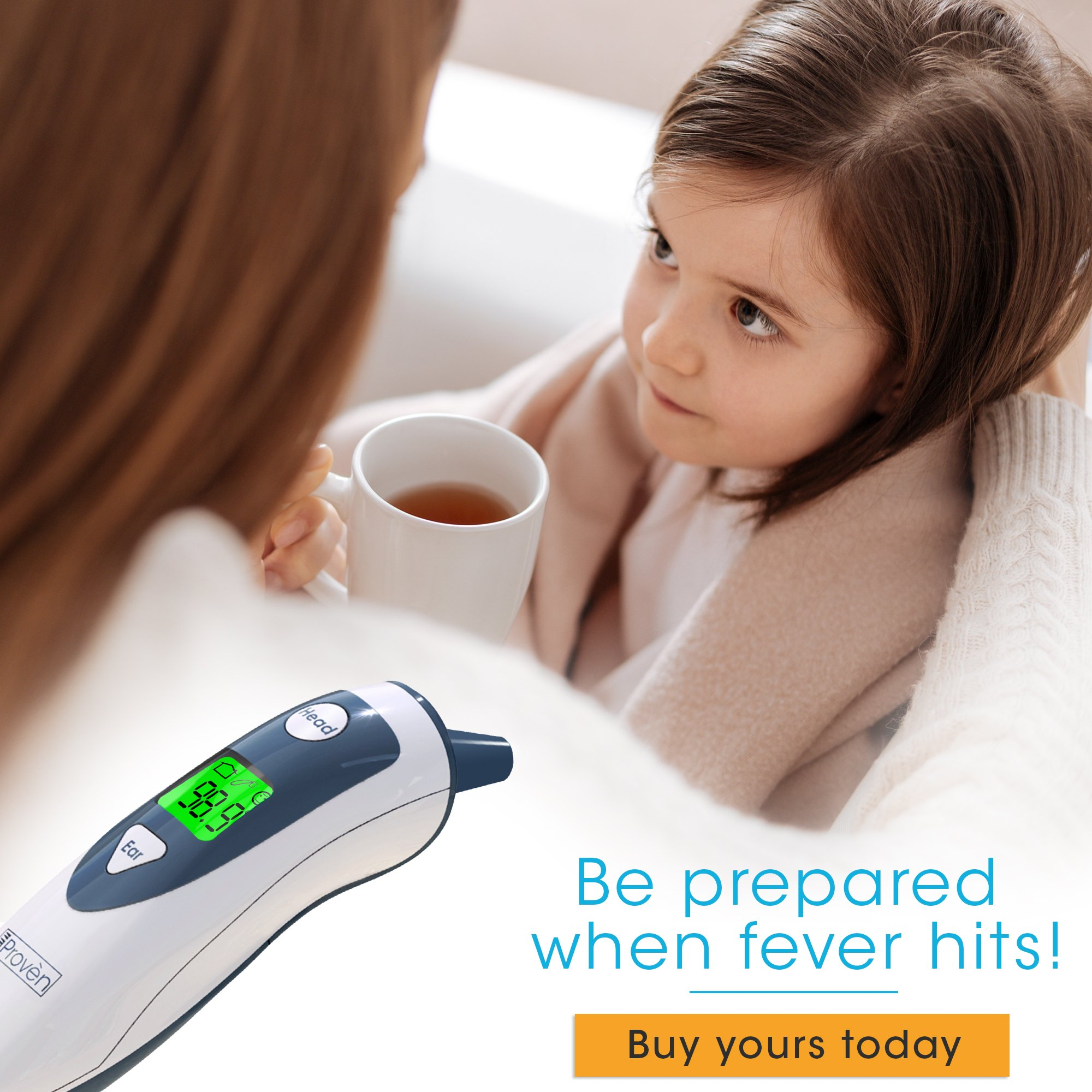 Baby Forehead Thermometer with Ear Function- iProven DMT489 Gray Cap - FDA and CE Approved - Clinical Accuracy Suitable for Baby, Infant, Toddler and Adults by iProvèn (Image #8)