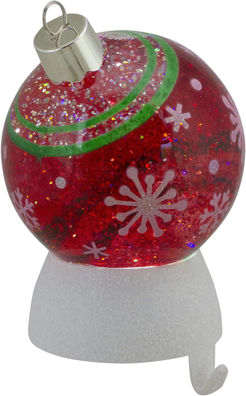 Roman 6 LED Snow Globe Christmas Ornament Stocking Holder