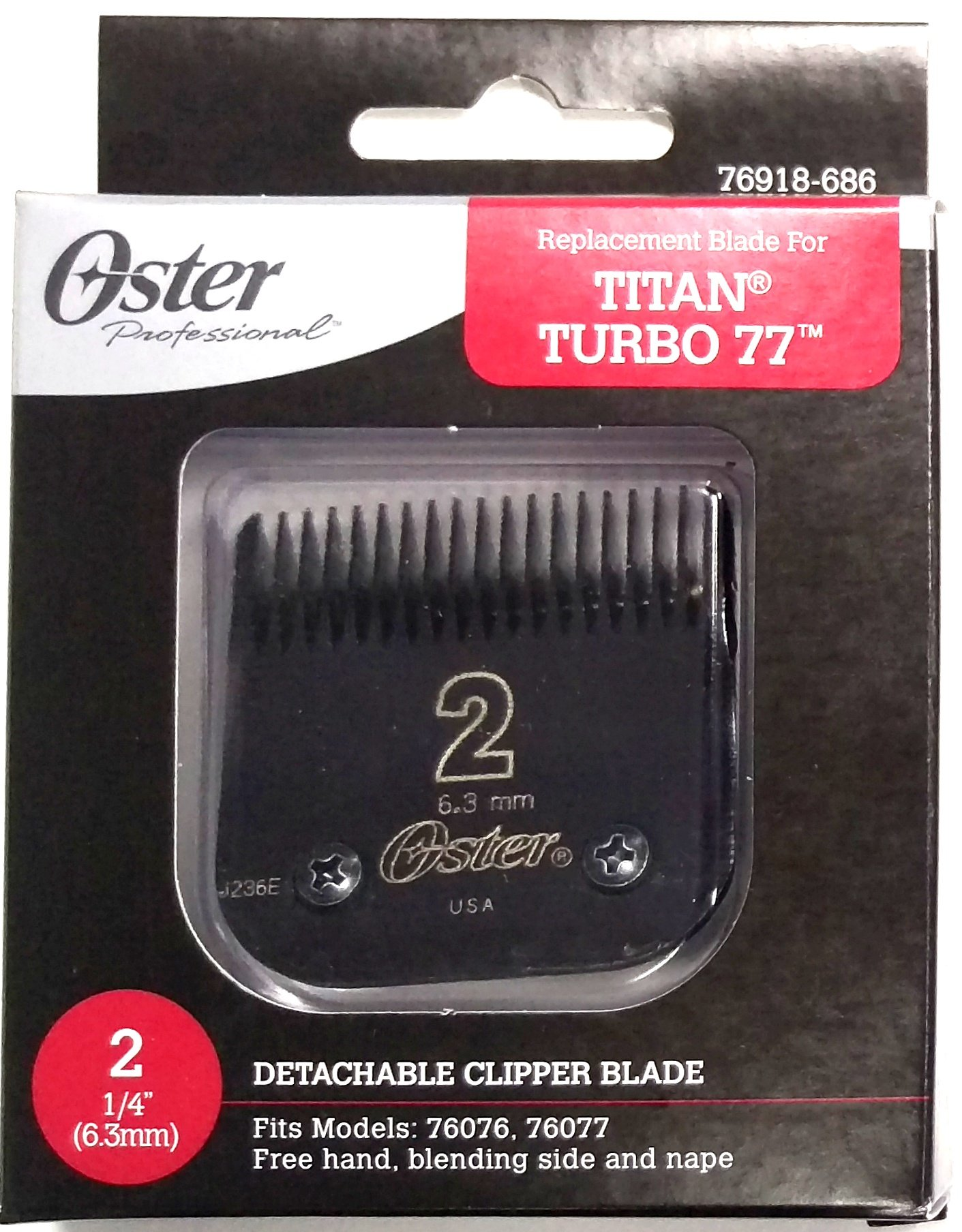 Oster Black Replacement Blade Titan/Turbo77 Size 2