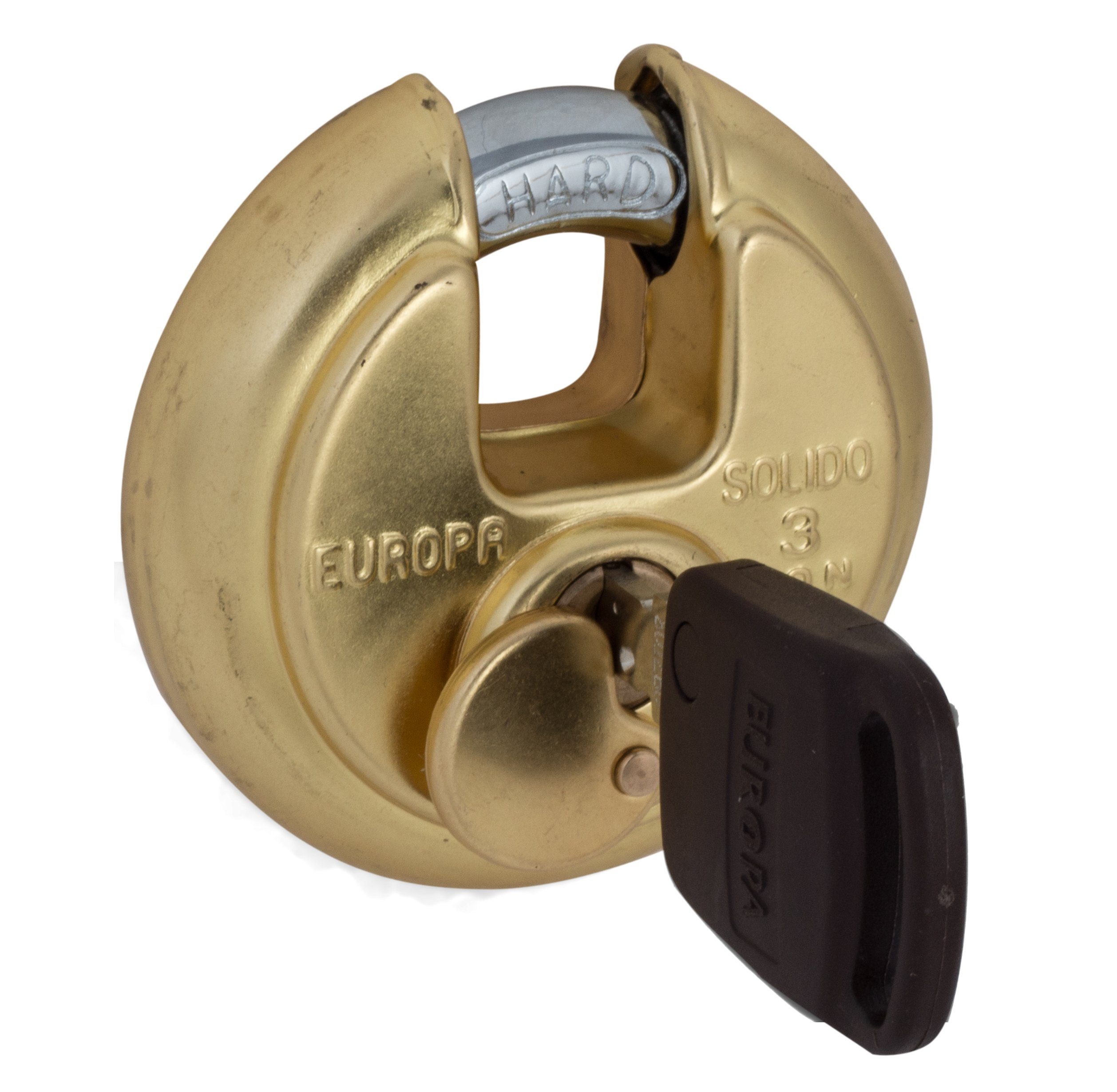 Europa P-370B1 TW Stainless Steel Disc Padlock (Golden)