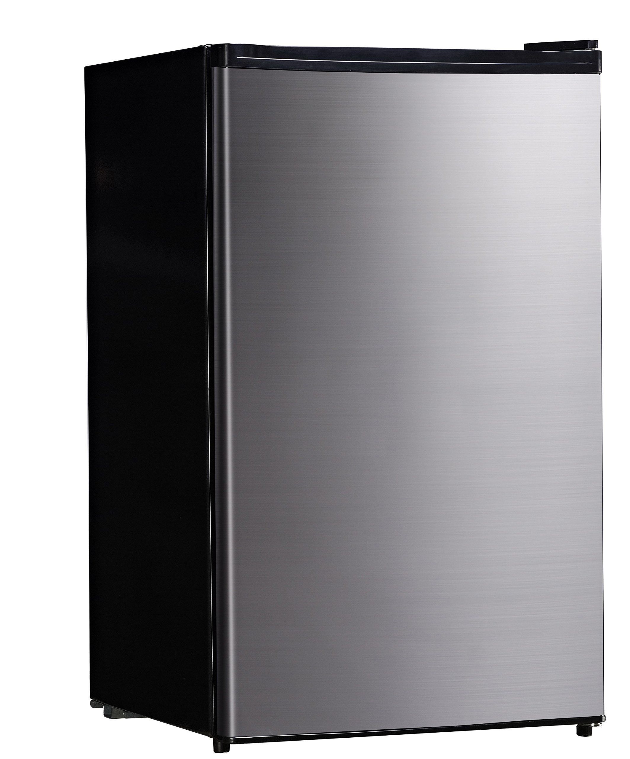 Midea WHS-160RSS1 Compact Single Reversible Door Refrigerator and Freezer, 4.4 Cubic Feet, Stainless Steel by MIDEA