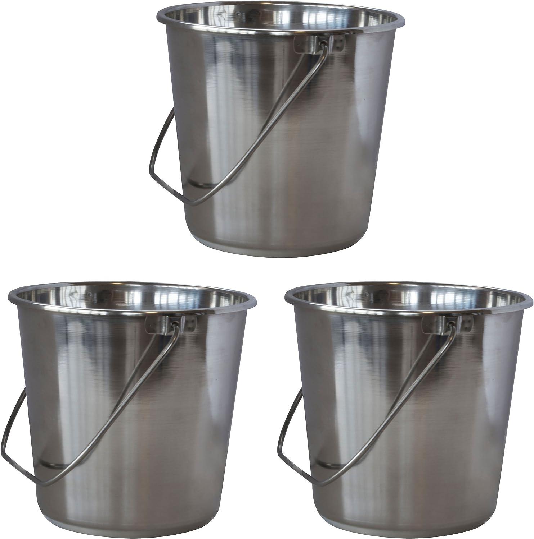 SSB422SET Large Stainless Steel Bucket Set 3Piece