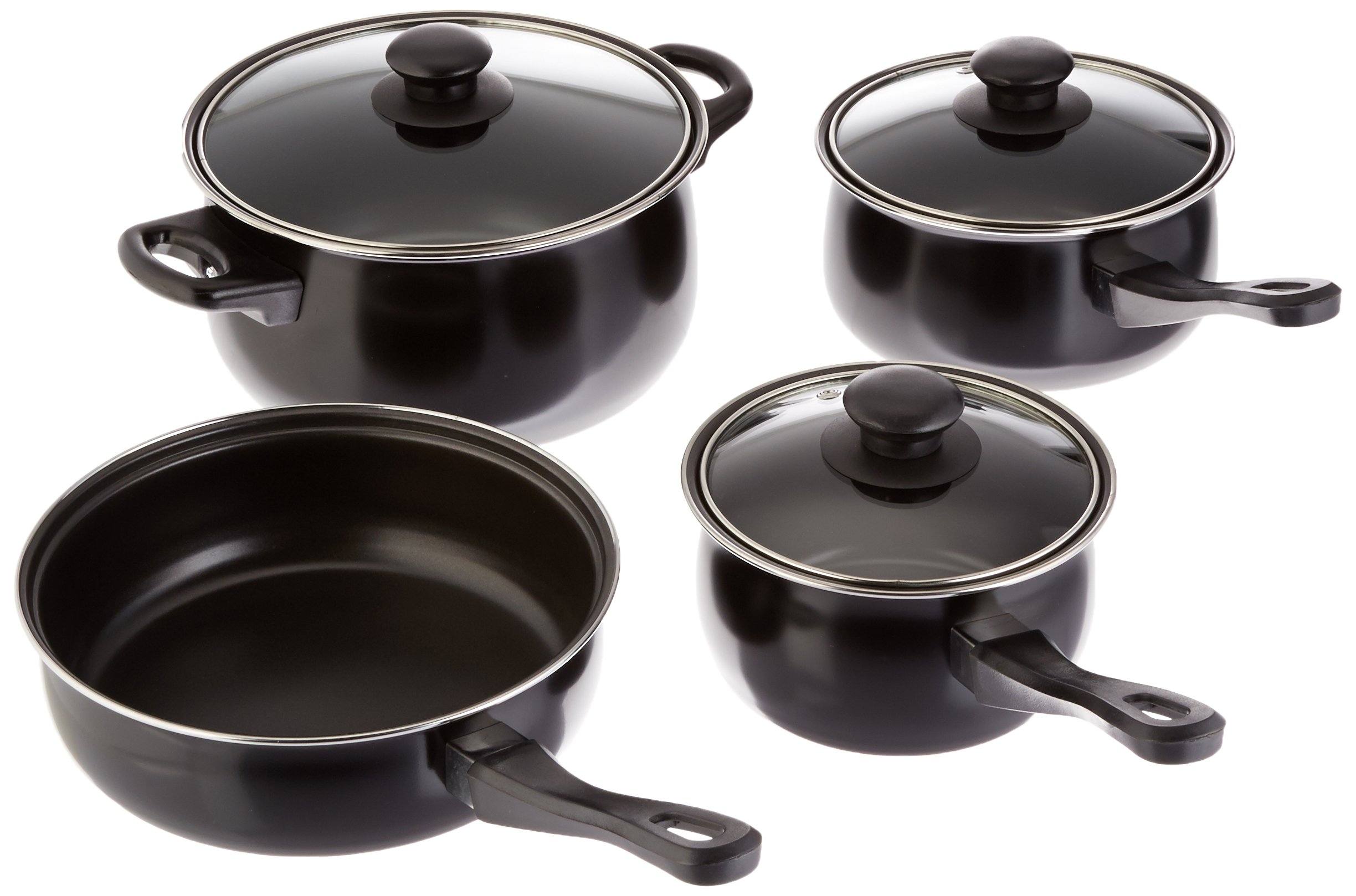 Gibson Everyday 83681.07 Chef Du Jour 7-Piece Cookware Set, Black