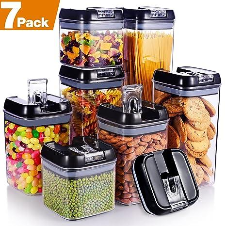 Amazon Com Senbowe 7 Piece Air Tight Food Storage Container Set