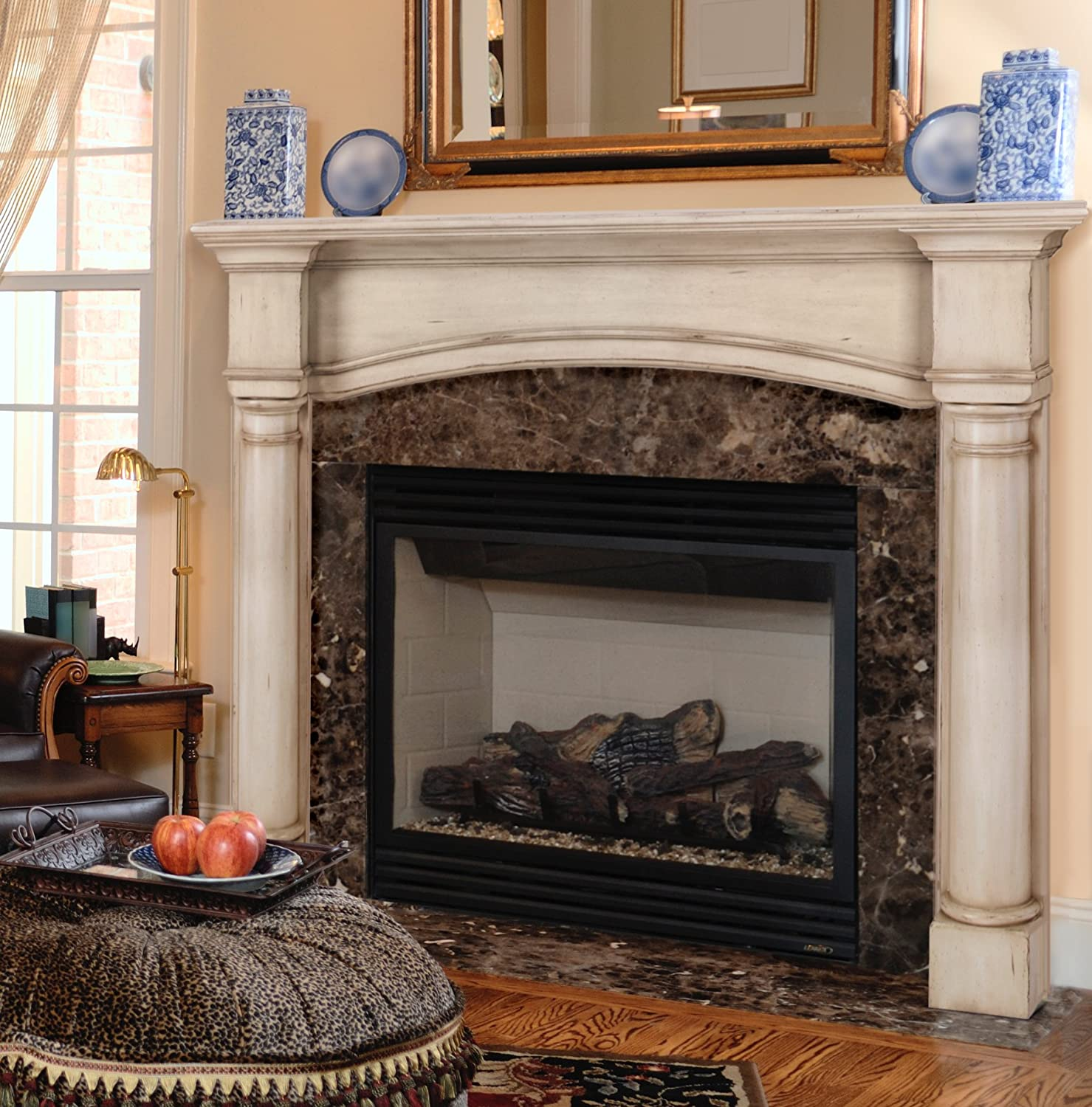 amazon com pearl mantels 159 48 70 princeton fireplace mantel