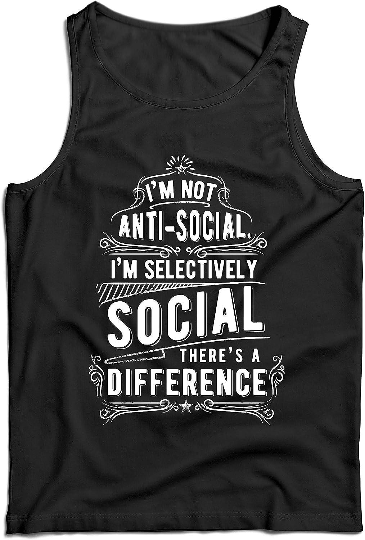 lepni.me Camisetas de Tirantes para Hombre No Soy Antisocial Solo selectivamente Social, Gracioso Diciendo, Citas de Humor sarcástico: Amazon.es: Ropa y accesorios