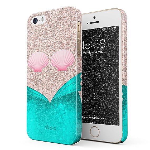 reputable site be95e 384b3 Amazon.com: Glitbit Compatible with iPhone 5 / 5s / SE Case Mermaid ...