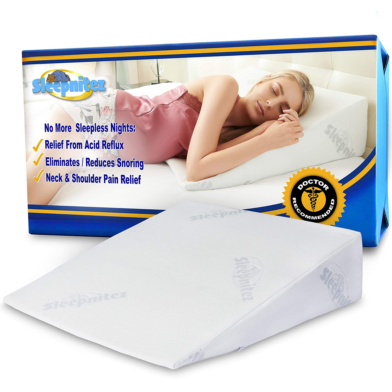 "Sleepnitez 8"" Wedge Pillow for Acid Reflux"