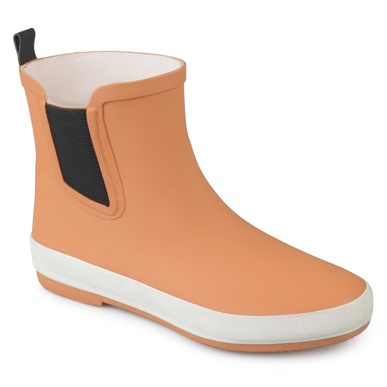 Brinley Co Womens Samar Rubber Sporty Solid Color Rainboots B0741F7YDD 6 B(M) US|Tan