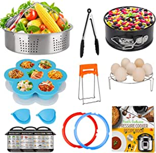 3 Qt Accessories Set for Instant Pot, Compatible with InstaPot Accessories 3 Quart Only, Mini Accessory Including Sealing Ring Steamer Basket Springform Pan Egg Rack Trivet