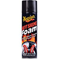 Meguiar's Hot Shine Tire Foam – Aerosol Tire Shine for Glossy, Rich Black Tires – G13919, 19 oz