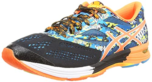 Asics Gel Noosa Tri 10 Scarpe sportive Uomo Nero Black/Flash Orange/Flash Ye